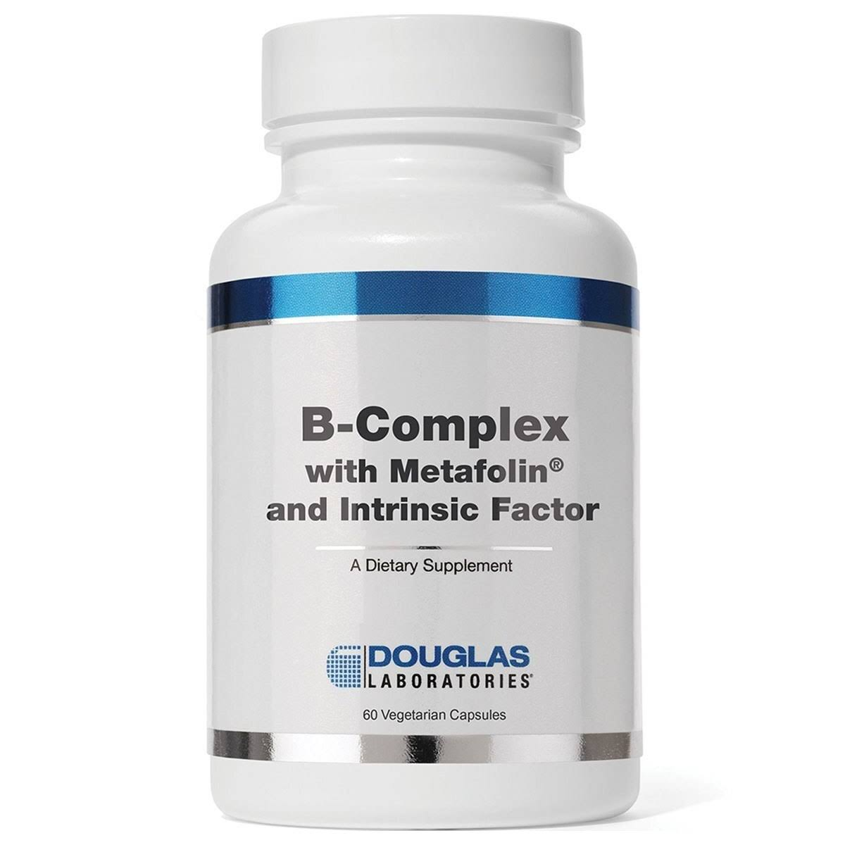 Douglas Labs B Complex Supplement - with Metafolin, 60 Capsules