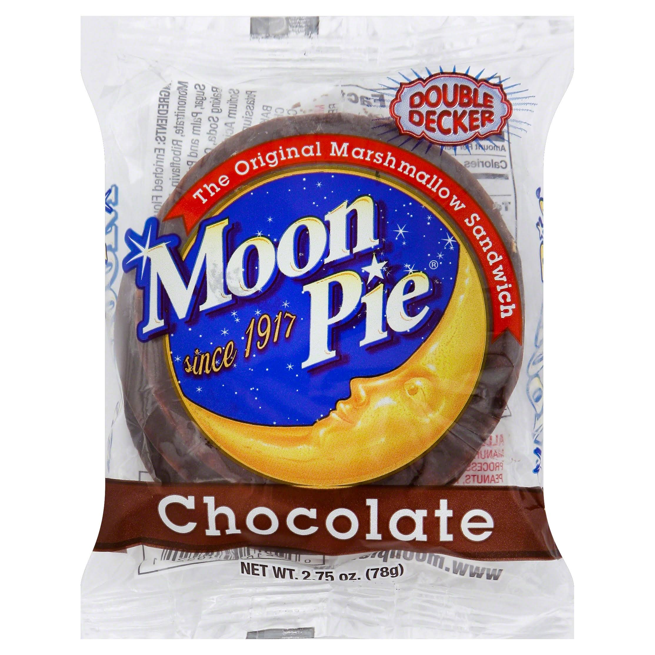 Moon Pie Marshmallow Sandwich, Chocolate, Double Decker - 2.75 oz