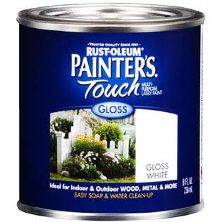 Rust Oleum Painters Touch Ultra Cover General Latex Paint - Gloss White, 8oz