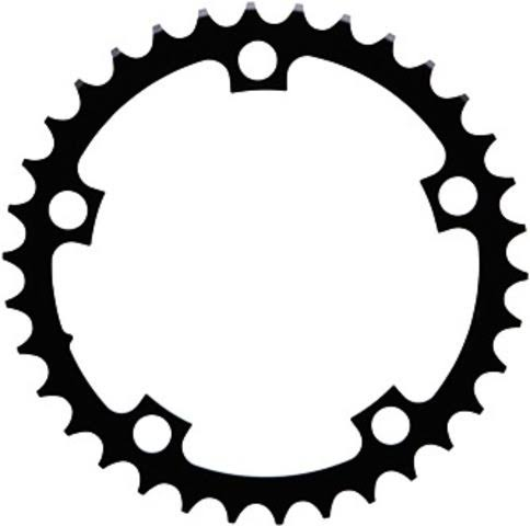 Sram Road Chainring - Black, 110mm, 38T