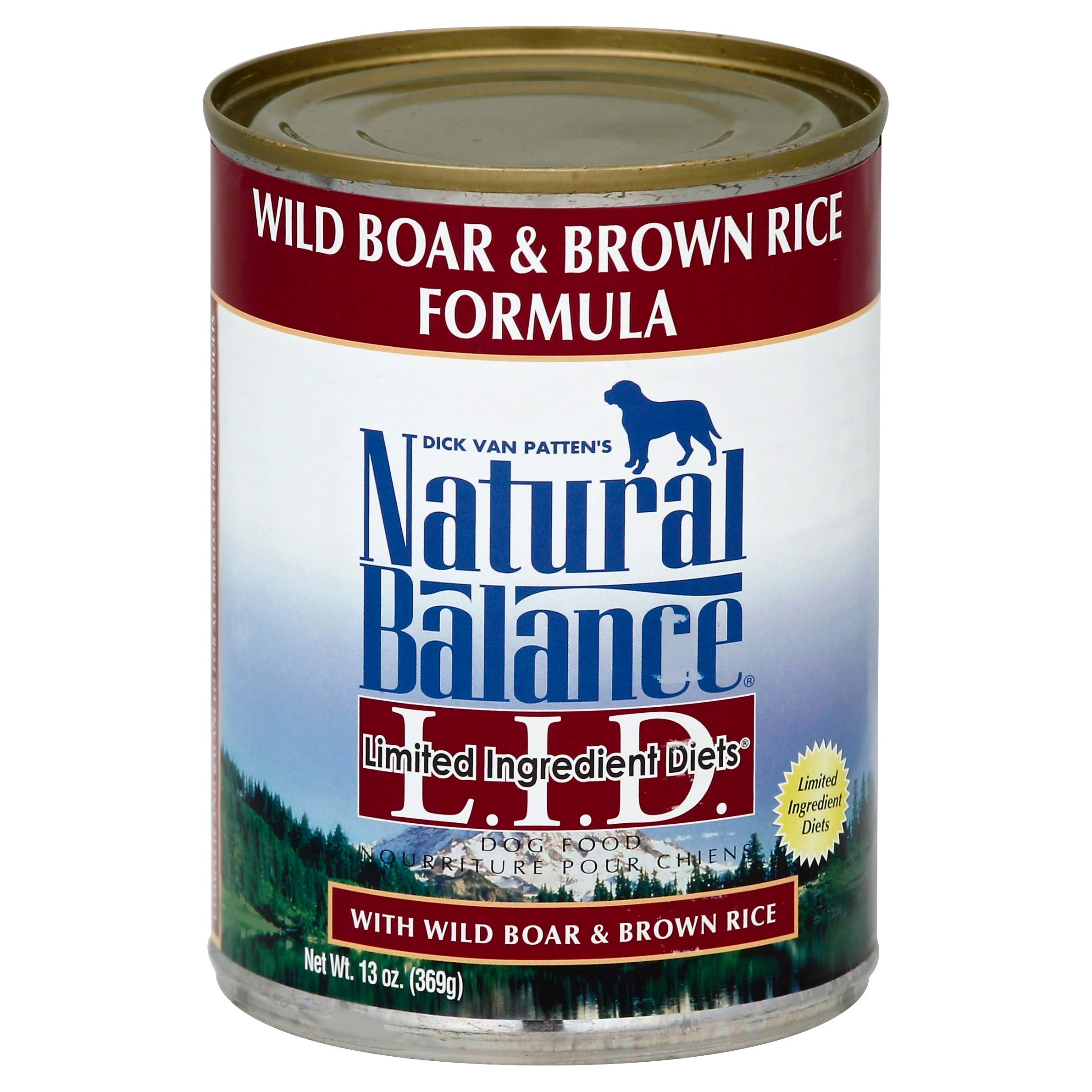 Natural Balance L.I.D. Limited Ingredient Diets Dog Food, Wild Boar & Brown Rice Formula - 13 oz