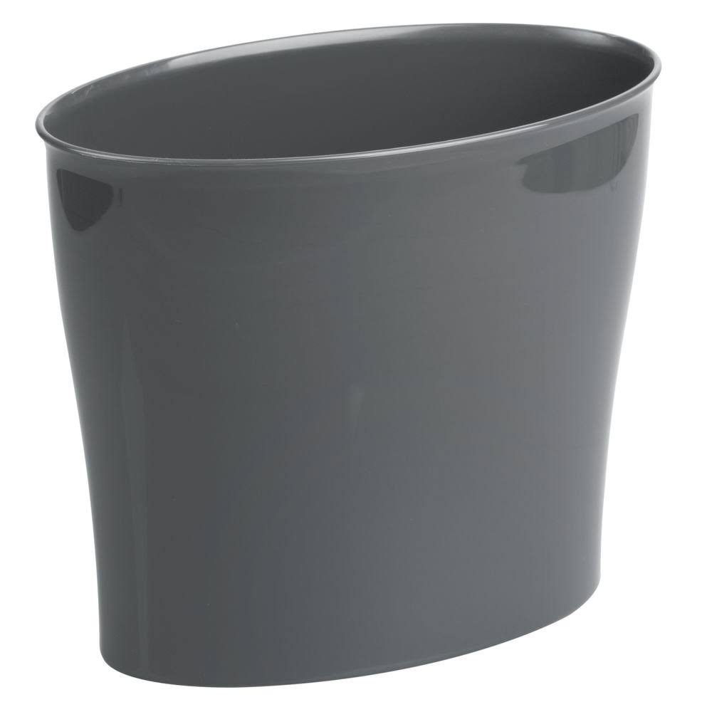 Interdesign Wastebasket Trash Bathroom, Bedroom or Office Slate Nuvo Waste Can