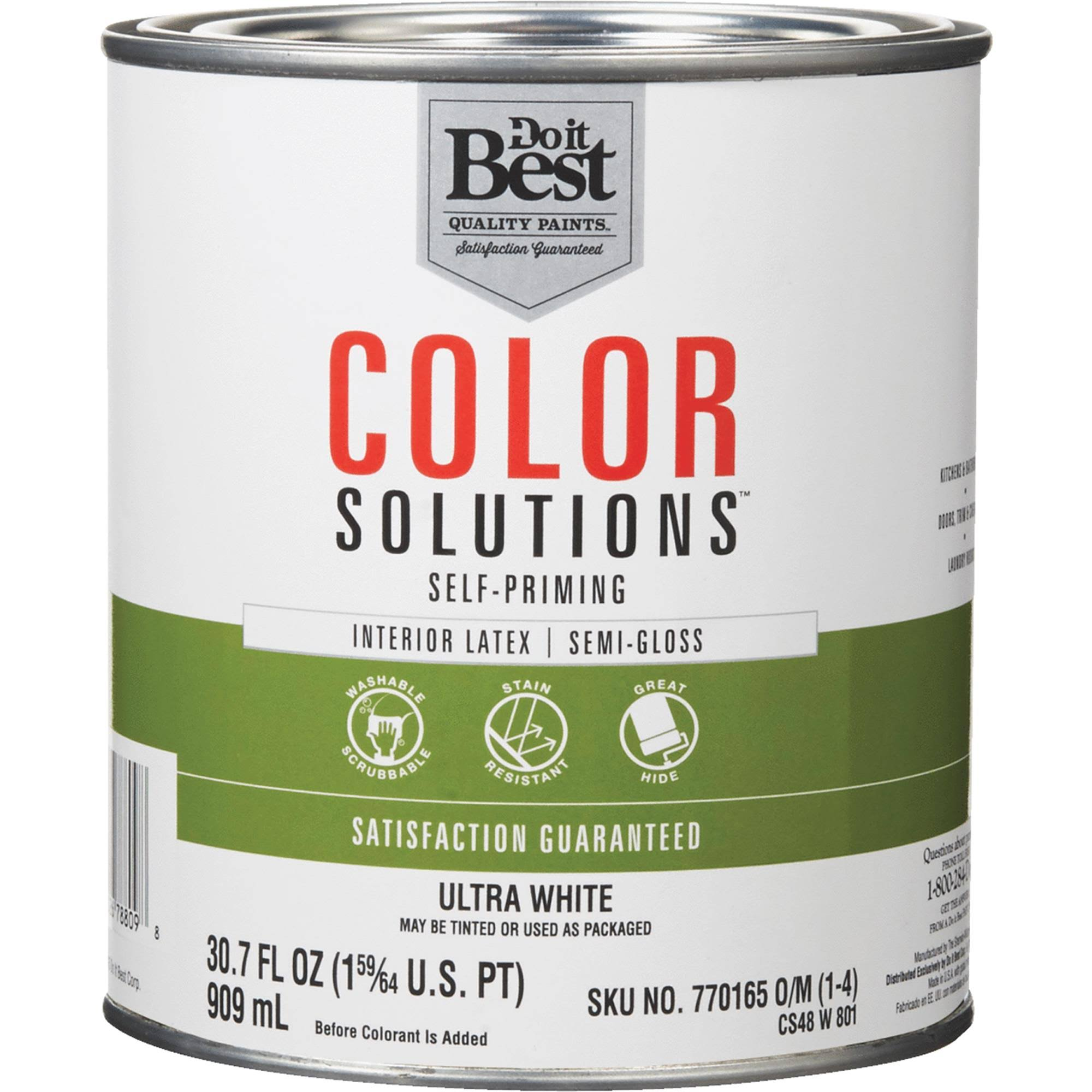Do it Best Color Solutions Latex Self-Priming Semi-Gloss Interior Wall Paint - 29.5oz