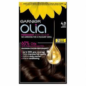 Garnier Olia Permanent Hair Dye - 4.0 Dark Brown