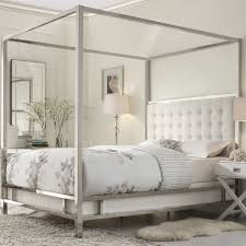 Wayfair White King Headboard by Jasper Upholstered Canopy Bed Room By Room Pinterest Canopy