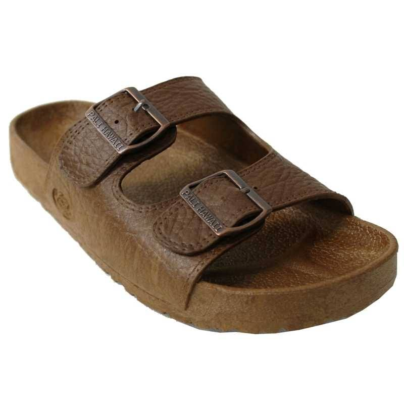 Pali Hawaii Unisex PH 438 Slide Sandal-Brown-Size 7