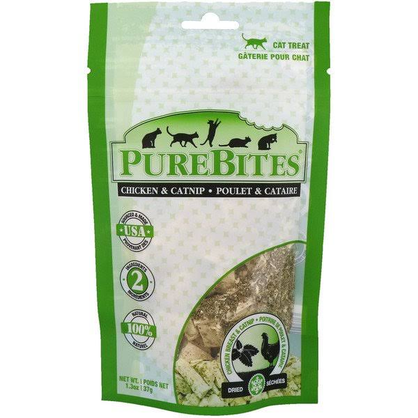 Purebites Cat Treats - Chicken Breast and Catnip, 1.3oz