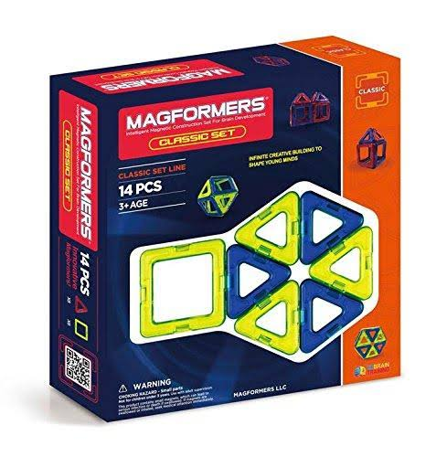 Magformers Classic Magnetic Construction Set - 14 Pieces