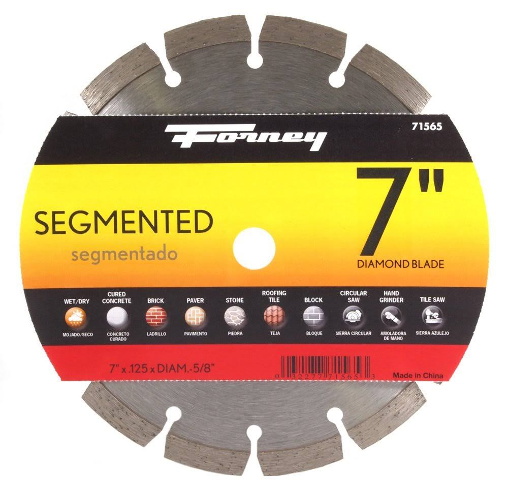 Forney 7 in. Segmented Diamond Cut-Off Blade 71565
