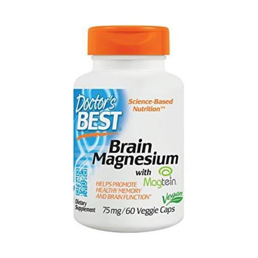 Doctor's Best Brain Magnesium 75mg Dietary Supplement - 60 Capsules