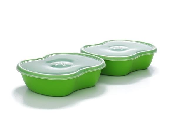 Preserve Lunch Pack Food Storage - Apple Green, Set of 2