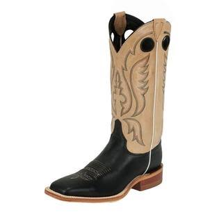 Justin Bent Rail Black Burnished Mens Cowboy Boots