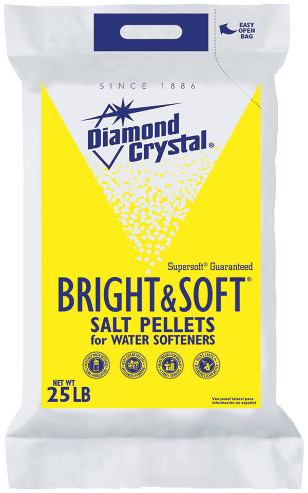 Diamond Crystal Bright and Soft Water Softener Salt Pellets - 25lbs bag