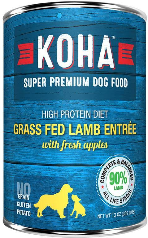 Koha Super Premium Dog Wet Food - Grass Fed Lamb & Fresh Apples, 369g