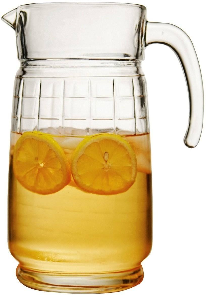 Circle Glass Windowpane 64 oz. Pitcher
