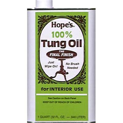 The Hope Company Pure Tung Oil Moisture Resistant Wood Finish - 32oz