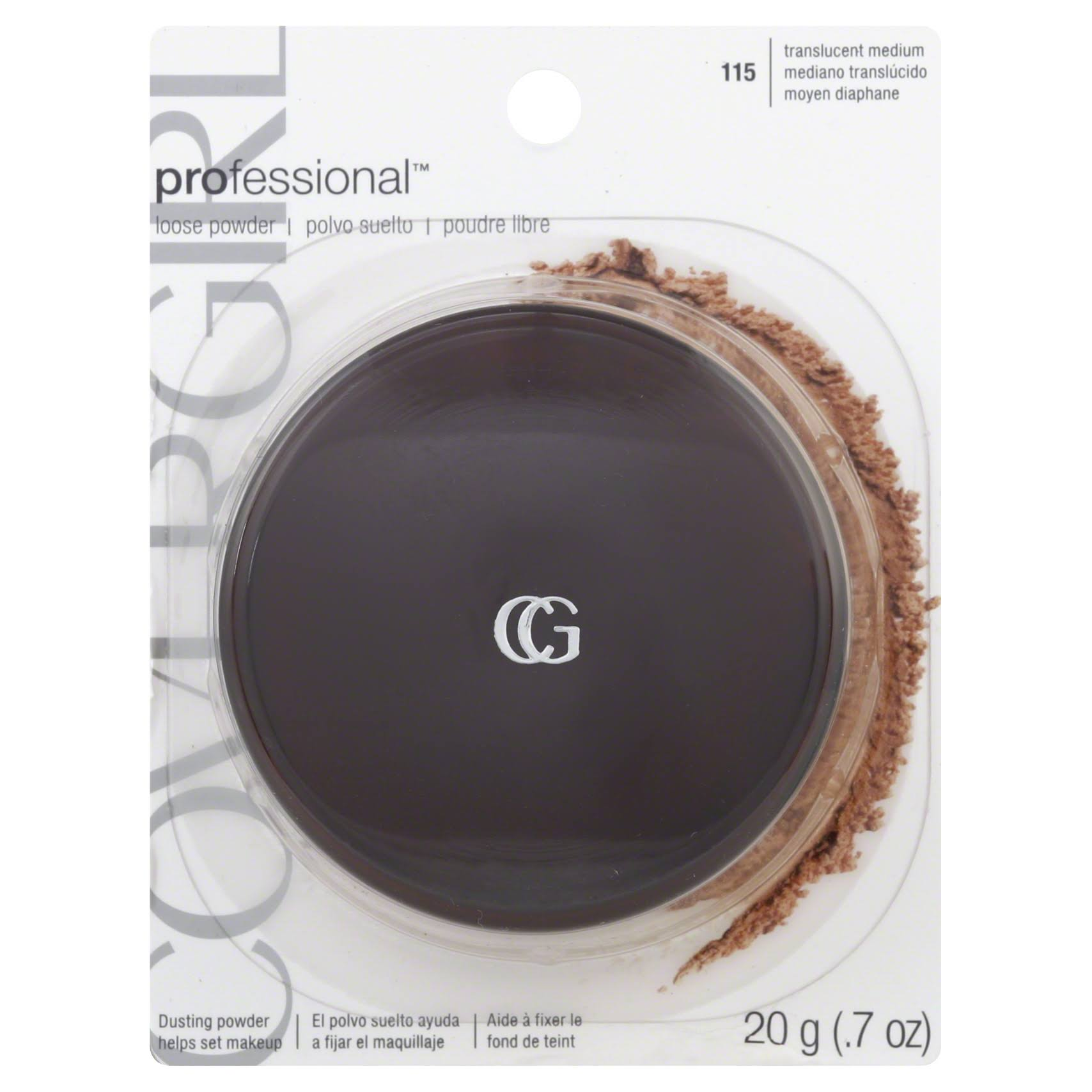 Covergirl Clean Professional Loose Powder - 20g, 115 Translucent Medium