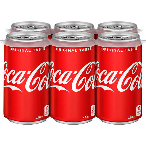 Coca-Cola Mini-Cans - 7.5 oz, 6 pk