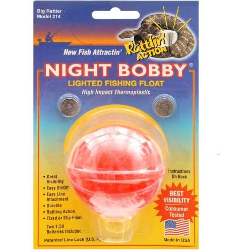 "Rieadco 214 Night Bobby Lighted Fishing Float - 2-1/4"", Red"