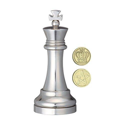 Hanayama Level 3 Cast Chess Puzzle - Silver, King