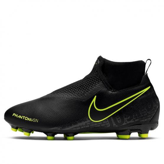 Nike Phantom Vision Academy Dynamic Fit MG junior football boots. Color Black.