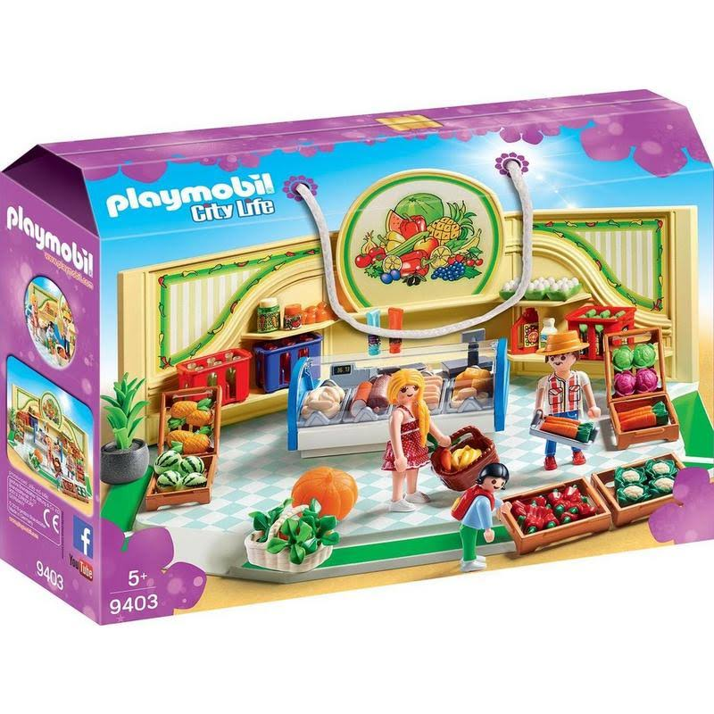Playmobil 9403 City Life Grocery Shop Set