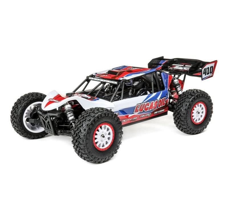 Losi 1/10 Tenacity DB Pro 4WD Desert Buggy Brushless RTR with Smart, Lucas Oil, LOS03027T1
