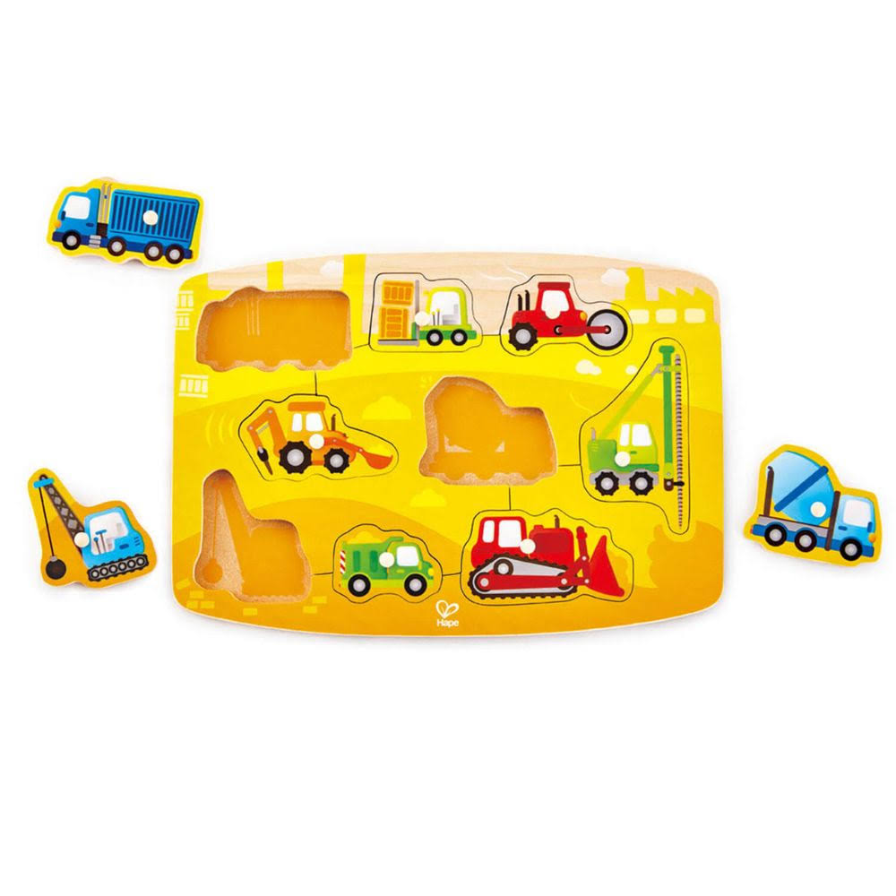 Hape - Construction Peg Puzzle