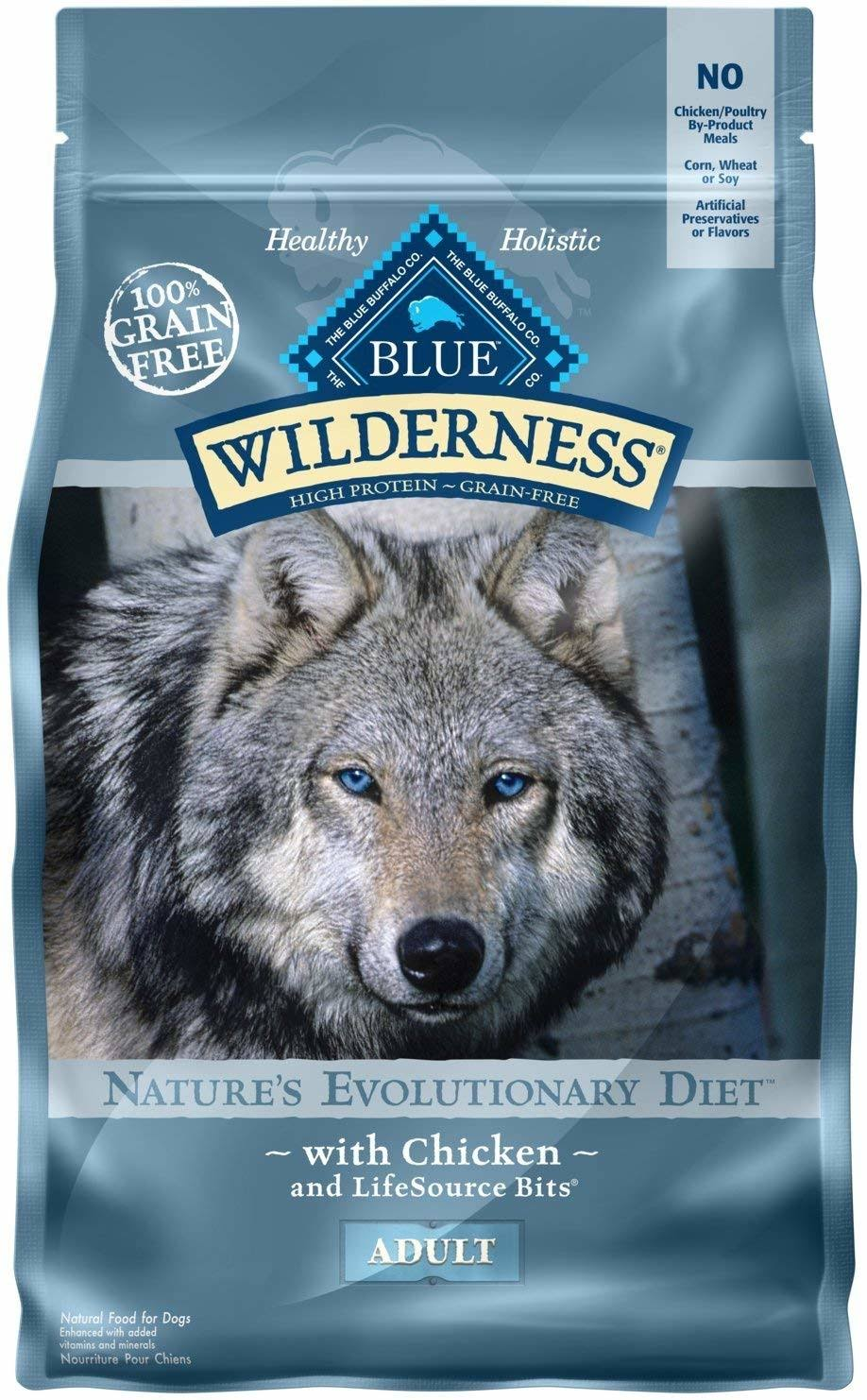 Blue Buffalo Wilderness Adult Dog Food - Chicken Recipe, 4.5lbs