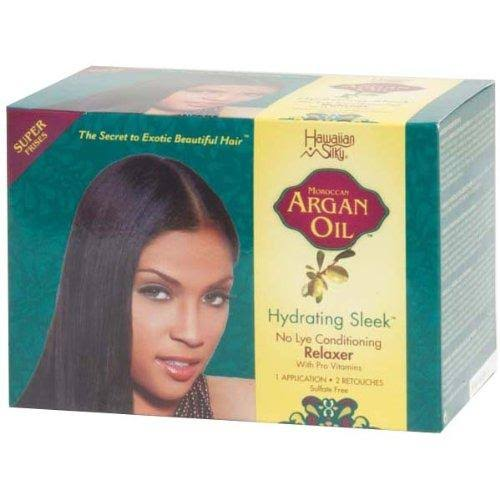 Hawaiian Silky Hydrating Sleek No Lye Relaxer Kit - Argan Oil