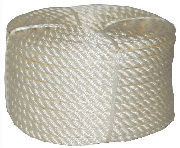 "T W Evans Cordage 32 001 Twisted Nylon Rope - 1/4"" x 50'"
