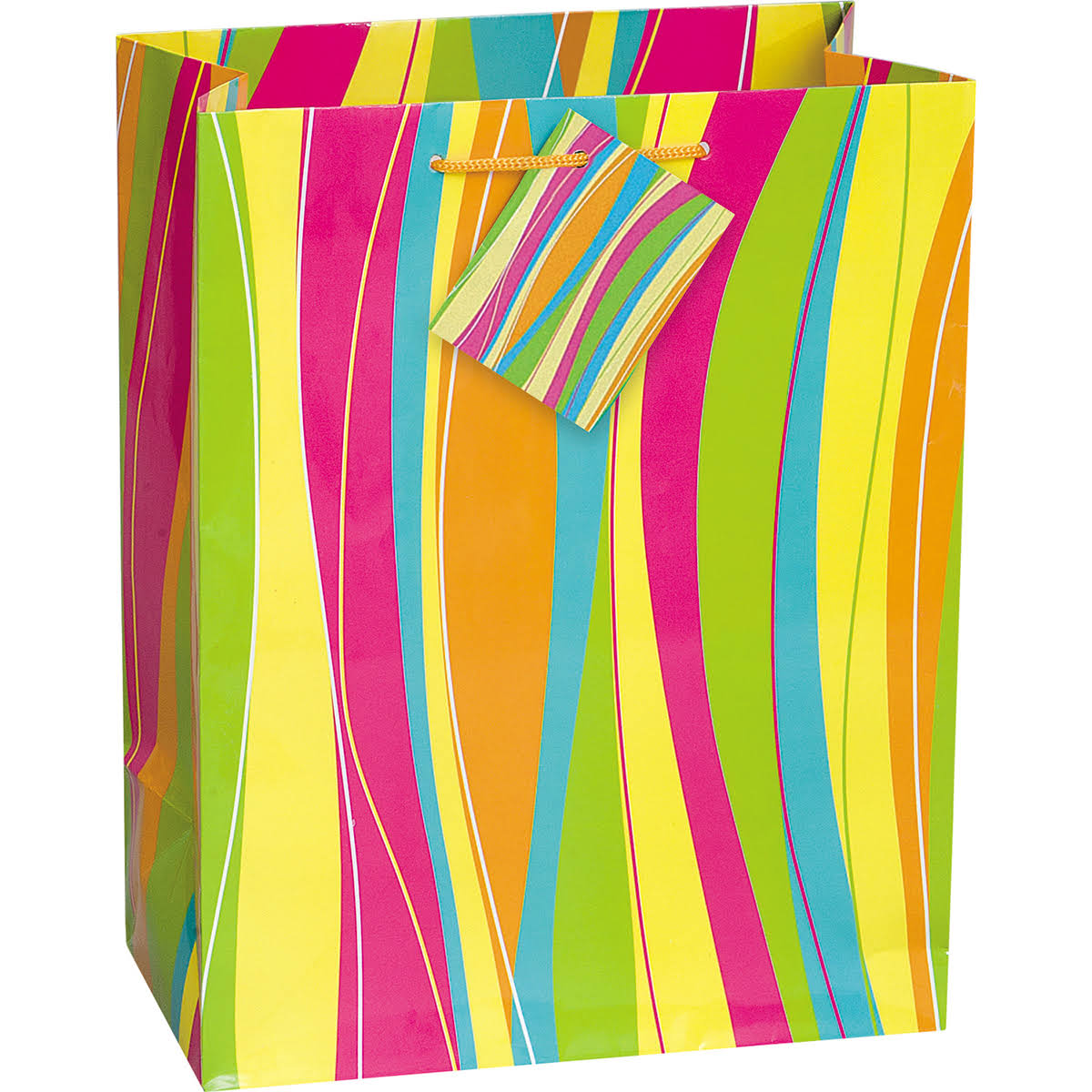 Unique Bright & Bold Gift Bag - Assortment, 9x7 in