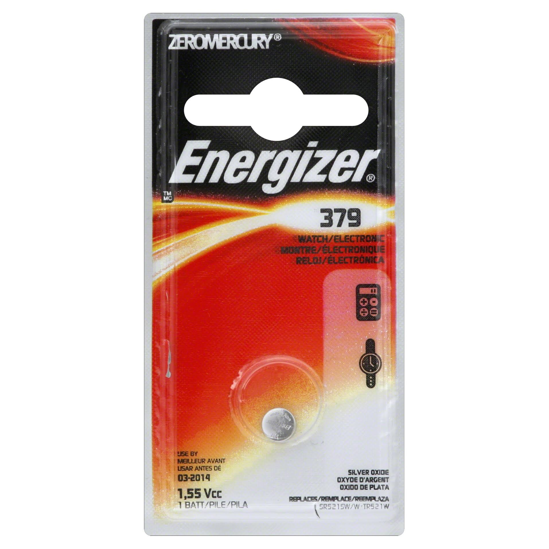 Energizer Zero Mercury Electronic Battery - 1pc
