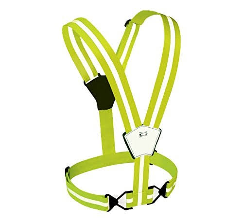 Amphipod Xinglet Reflective Vest - Hi-viz Green, Adjustable, Quick Release
