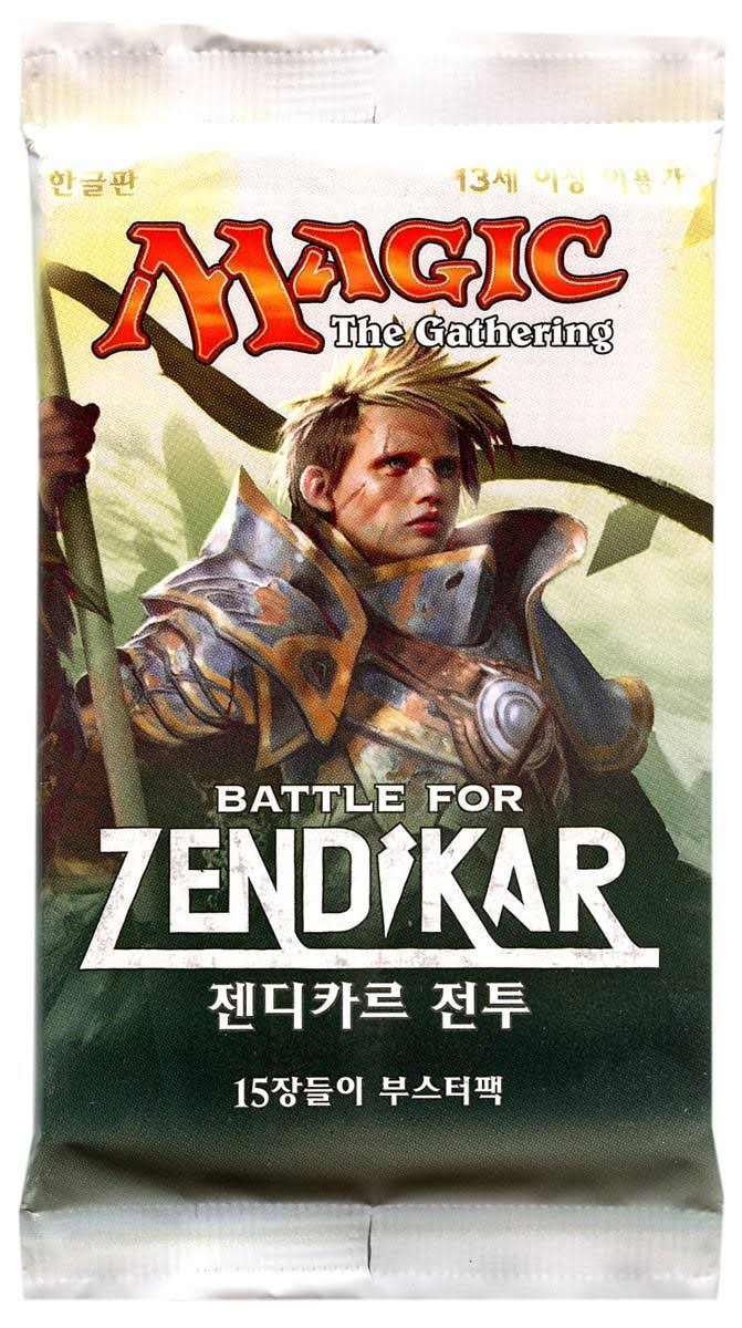Hasbro MTG Battle For Zendikar Korean Booster Pack