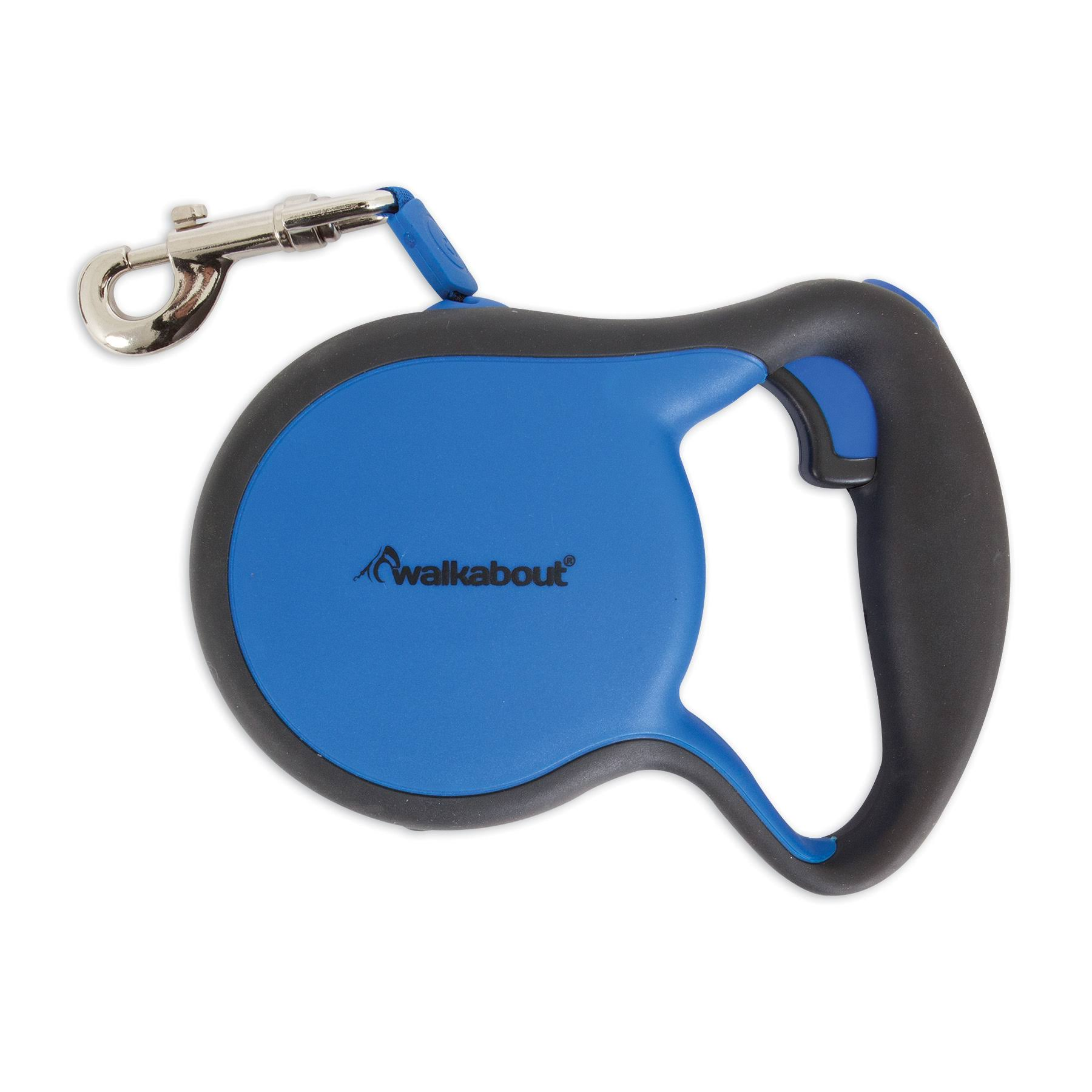 Petmate Walkabout Retractable Leash, Medium/Blue