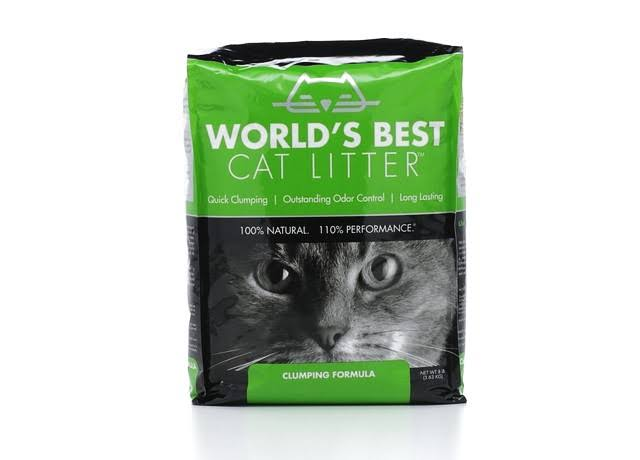 Worlds Best Cat Litter, Clumping Formula - 8 lb