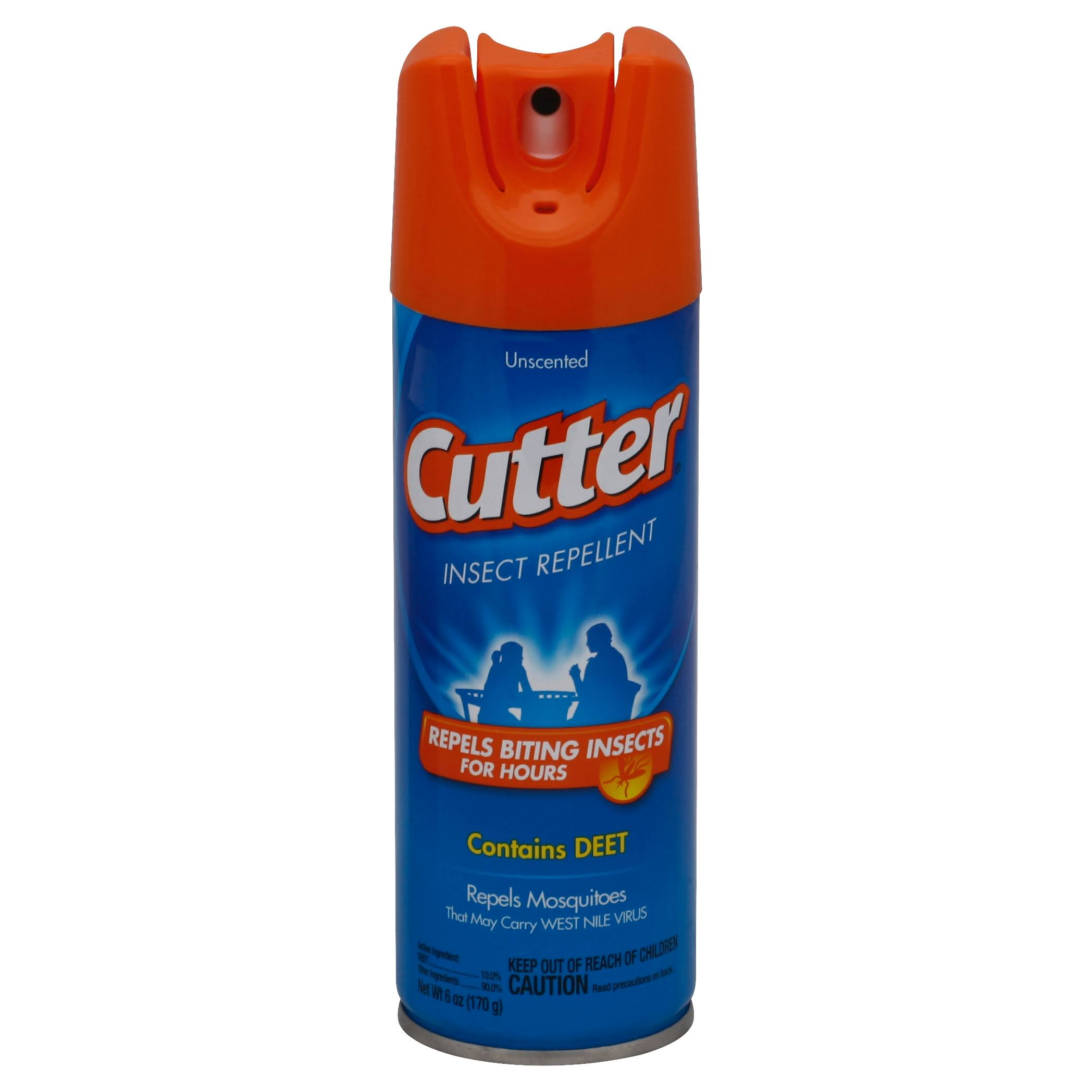 Cutter Deet Unscented Mosquito Repellent - 6oz