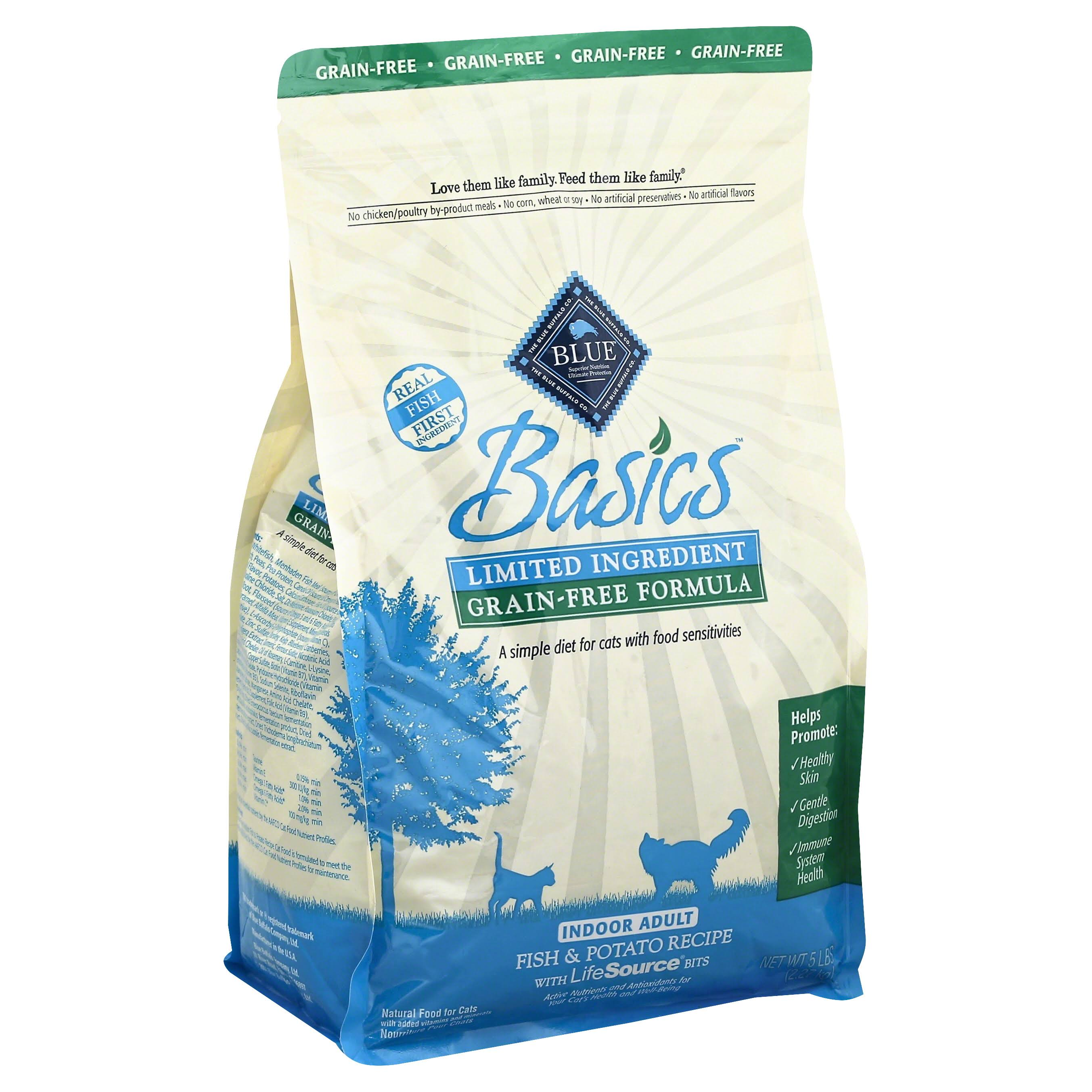 Blue Buffalo Blue Basics Grain-Free Indoor Adult Cat Food - Fish & Potato Recipe