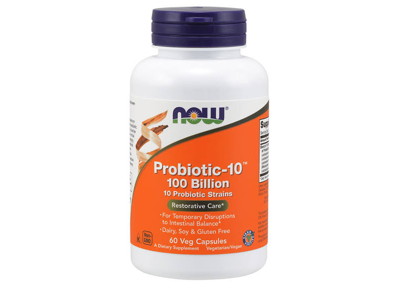 Now Foods Probiotic-10 100 Billion 60 Veg Capsules