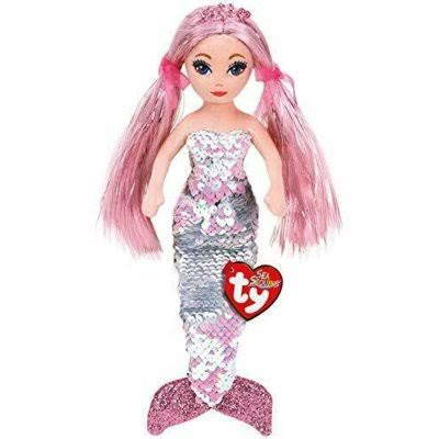 Ty TY02100 Cora Pink Sequin Mermaid 25cm