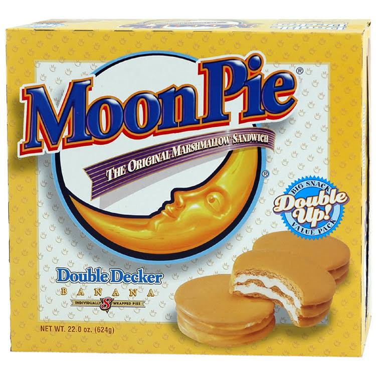 Moon Pie Double Decker Sandwich - Banana, 624g