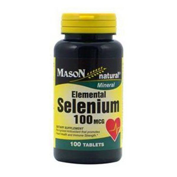 Mason Natural Selenium Dietary Supplement - 100 Mcg, 60 Tablets