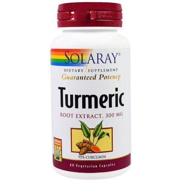 Solaray Turmeric Extract 300mg Dietary Supplement - 60 Capsules