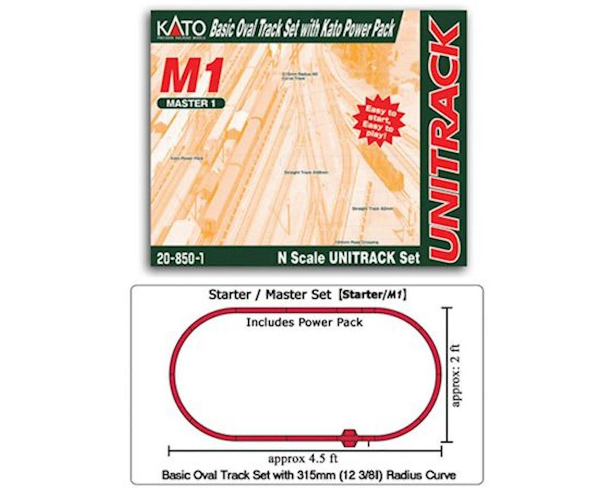 Kato USA Model Train Products M1 Basic Oval Track Set with Kato Power Pack