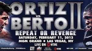 Breaking News: Berto vs Ortiz Is Off Do To Berto's Ruptured Bicep