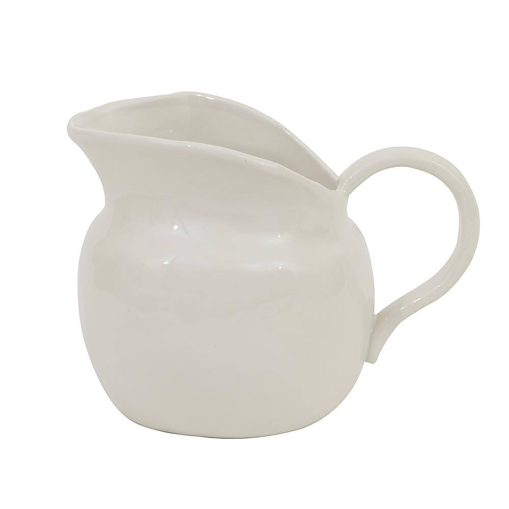 Creative Co Op Small Vintage Reproduction Pitcher - White