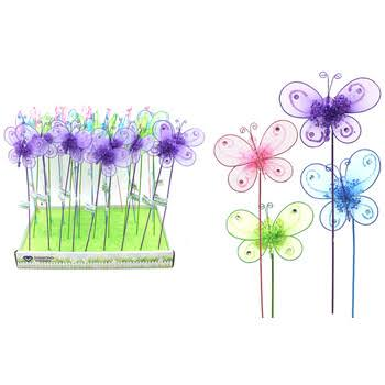 DDI 2182255 Butterfly Garden Pick Case of 36
