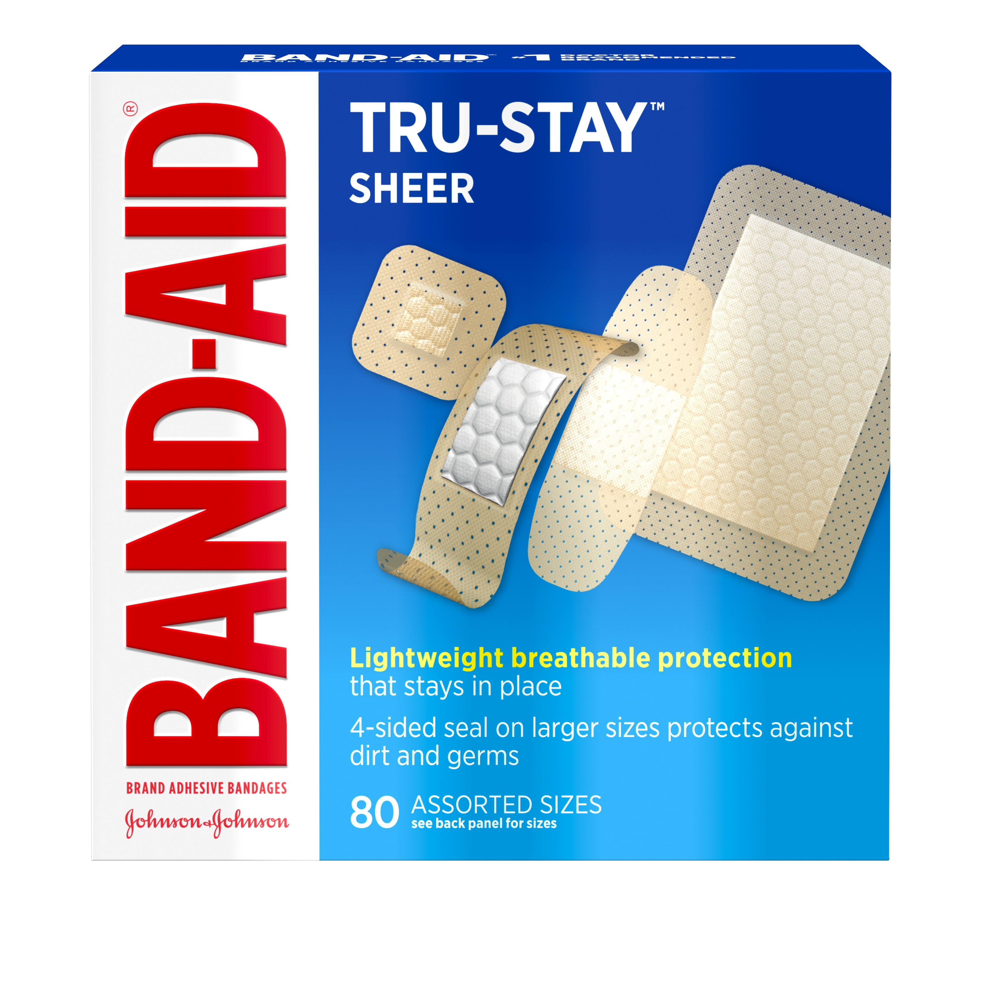 Band-Aid Comfort Sheer Adhesive Bandages - x80