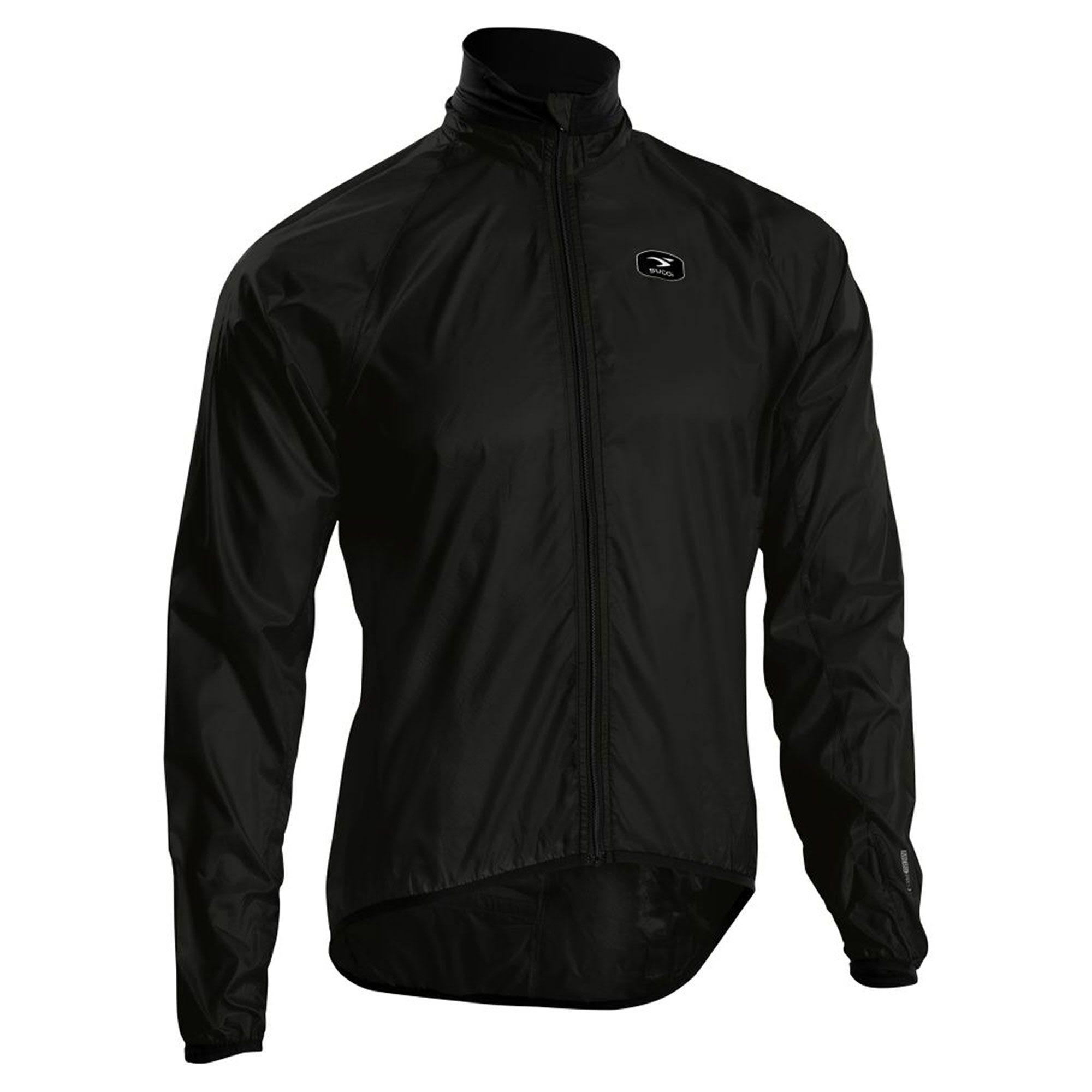 Sugoi Mens RS Lightweight Rain Jacket - Black, XX-Large